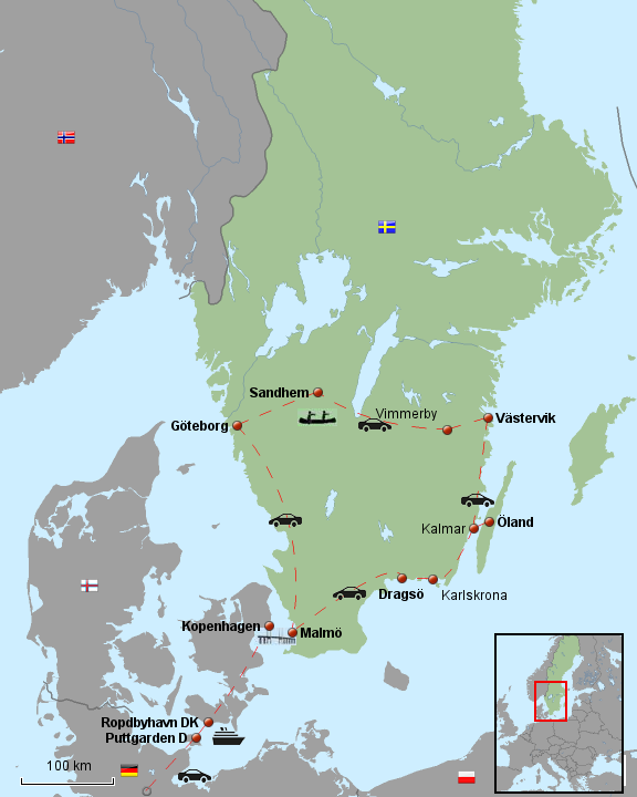 Schweden Roadtrip Route