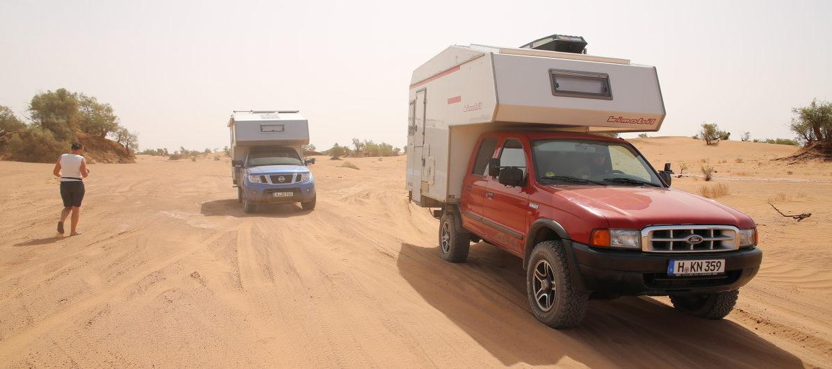 Camper in der Sahara
