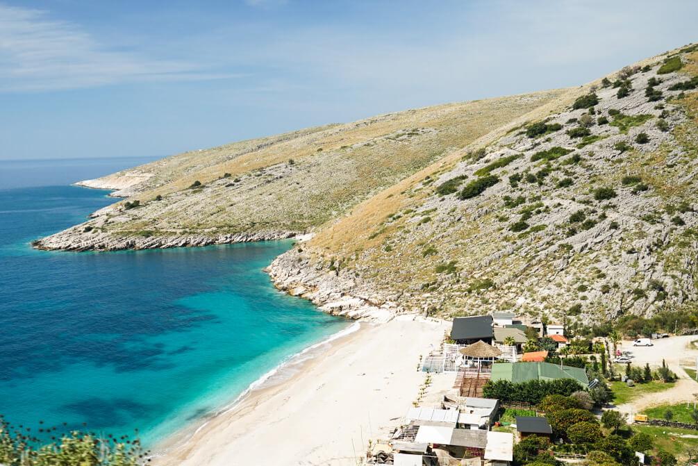 Küste, Strand, türkis Meer, Albanien Reisen