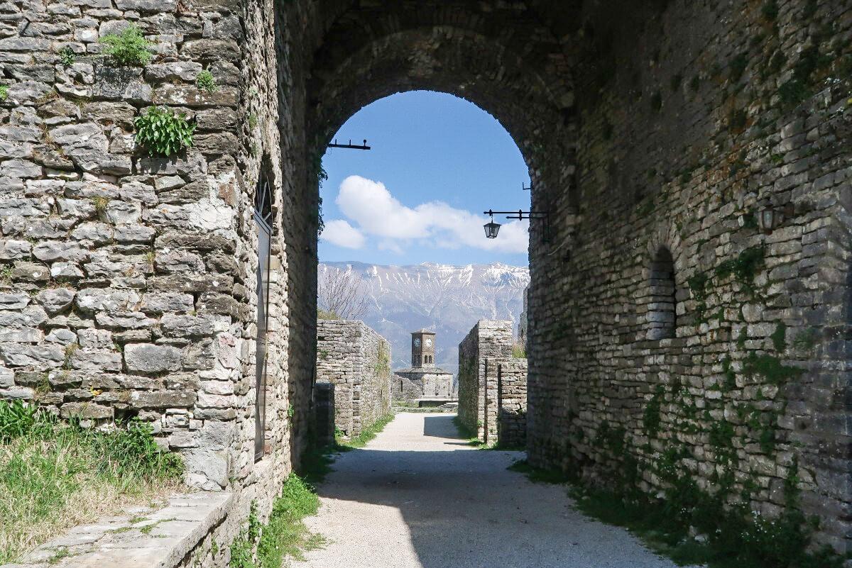 Gjirokaster, Albanien Ausblick