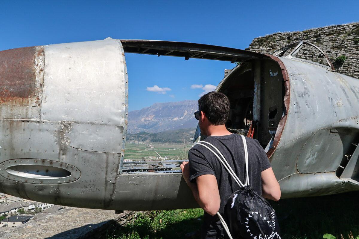 Gjirokaster Burg Aussicht Albanien Reisen