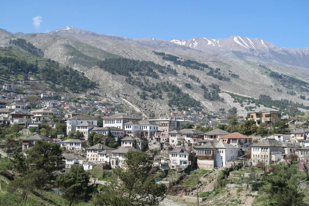Steinhäuser, Gjirokaster, Albanien Reisen