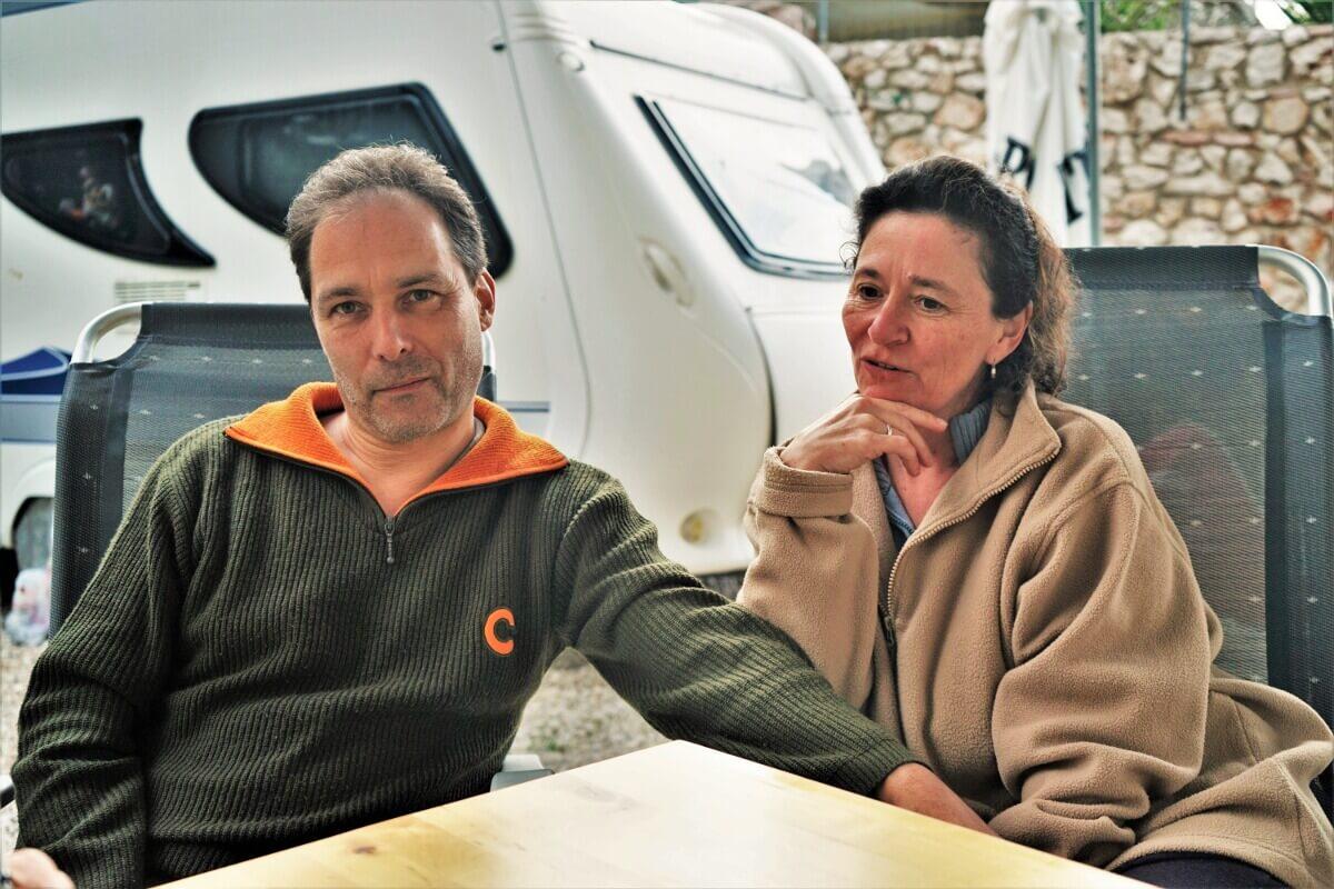 Günther und Martina im Gespräch
