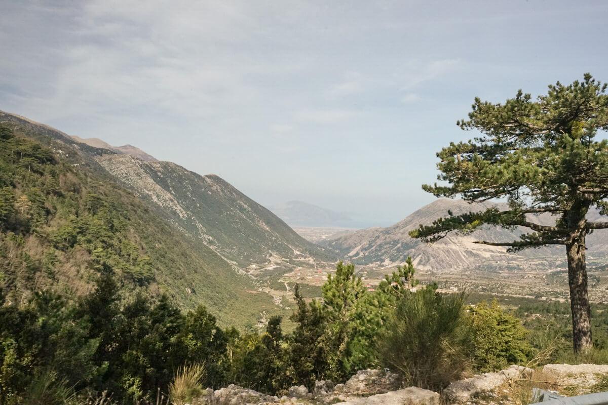 Tal, Bäume, Grün, Llogara-Pass, Albanien Reisen
