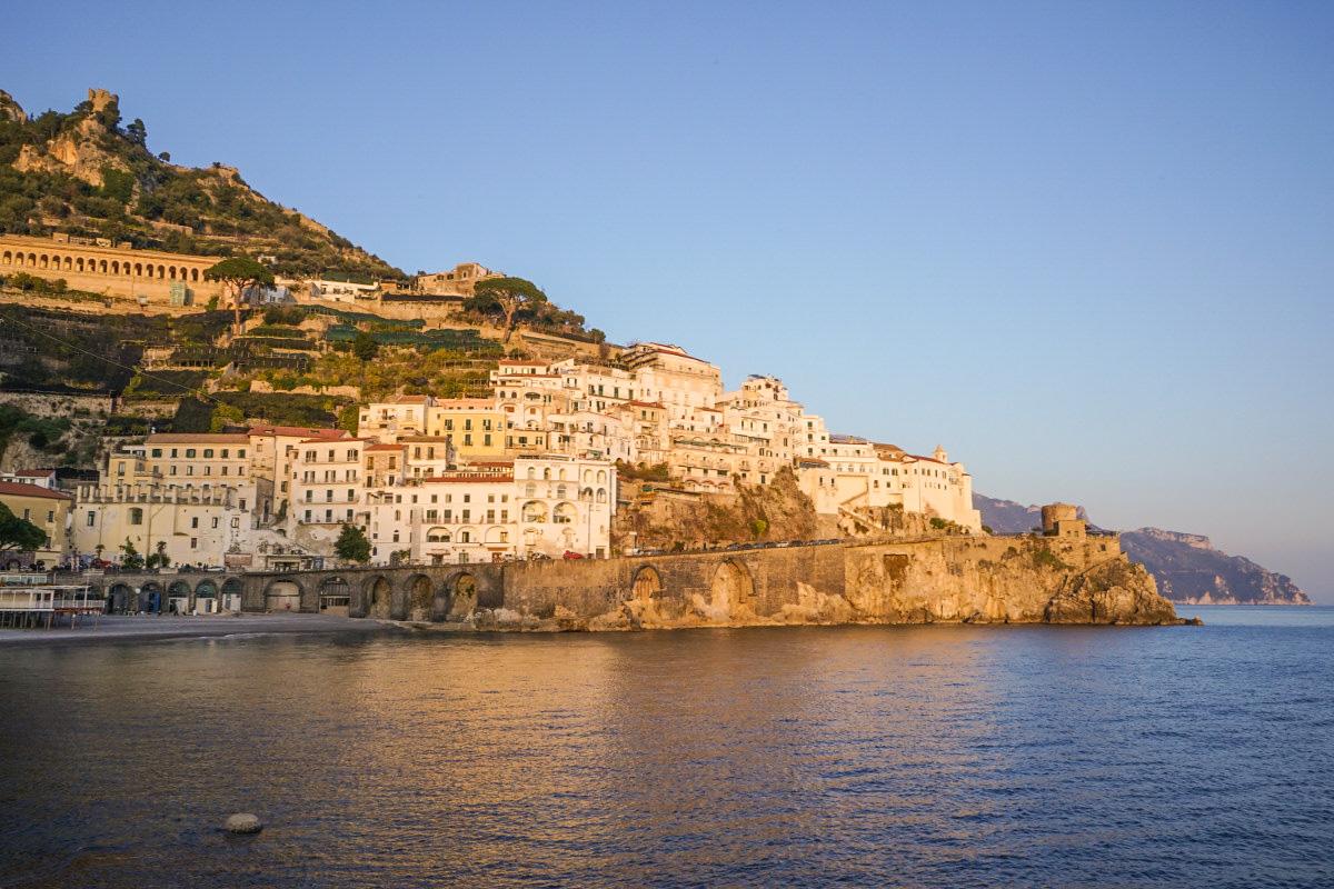 Sonne über Amalfi