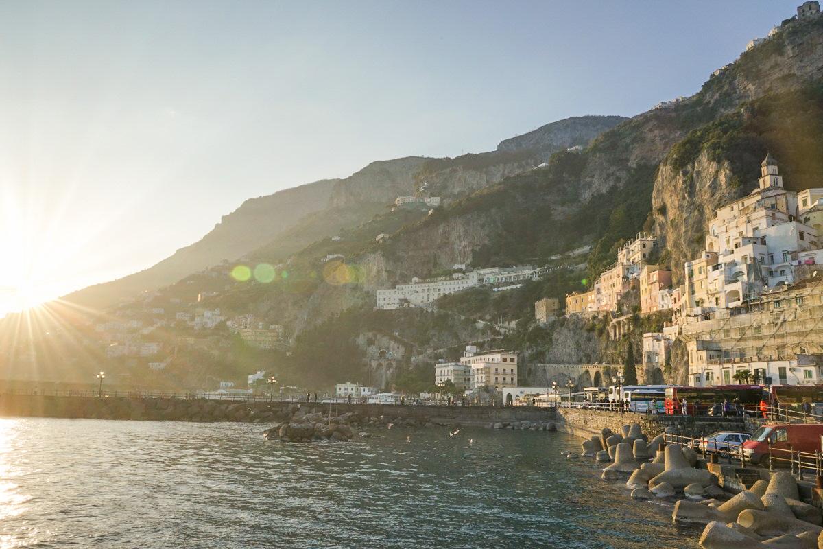 Sonnenuntergang über Amalfi