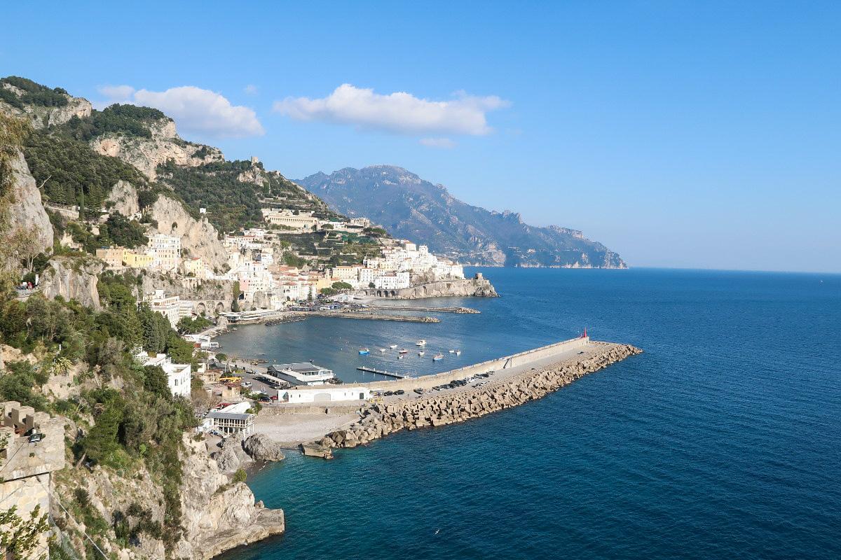 Amalfi von oben