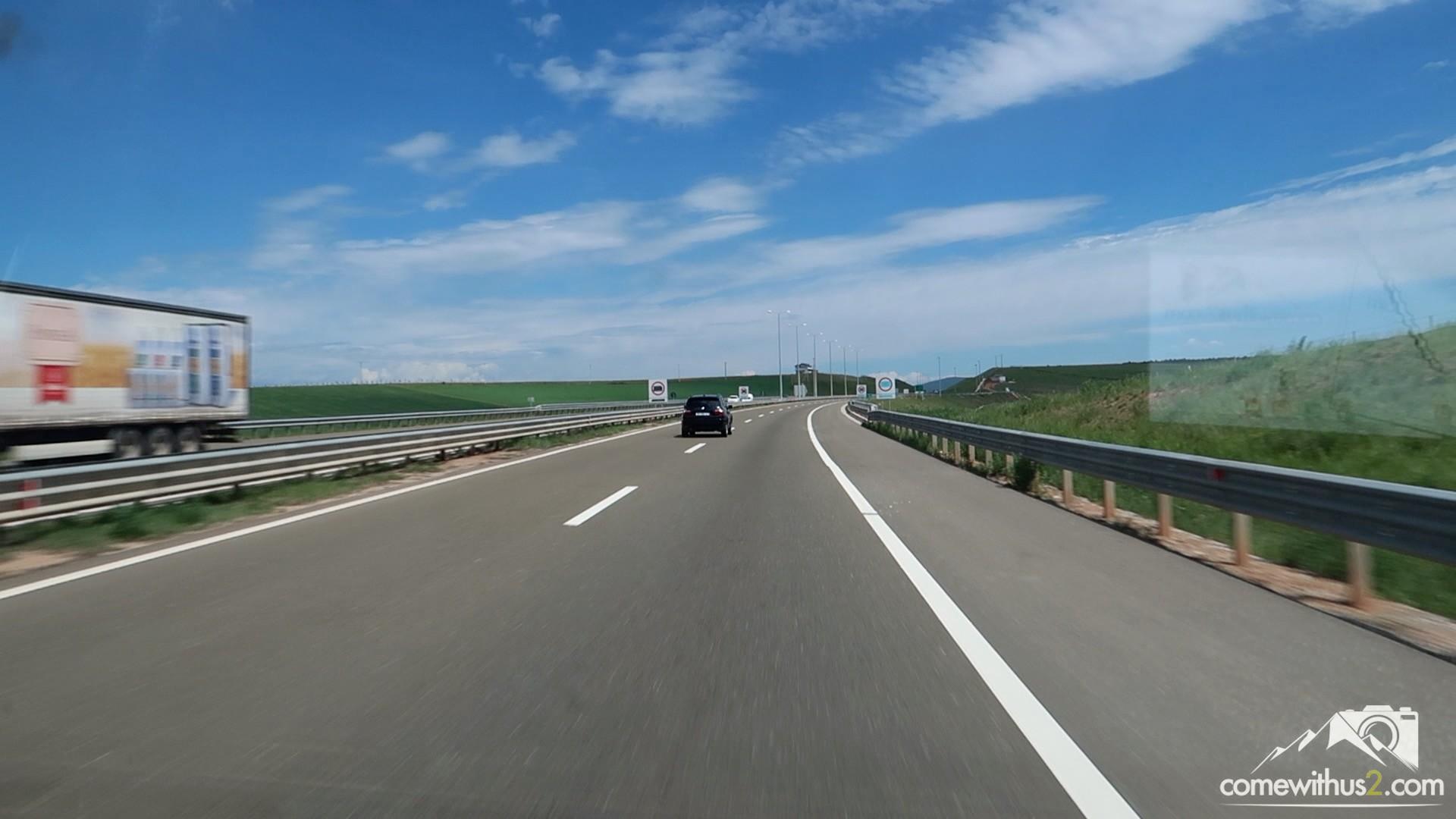 Autobahn im Kosovo