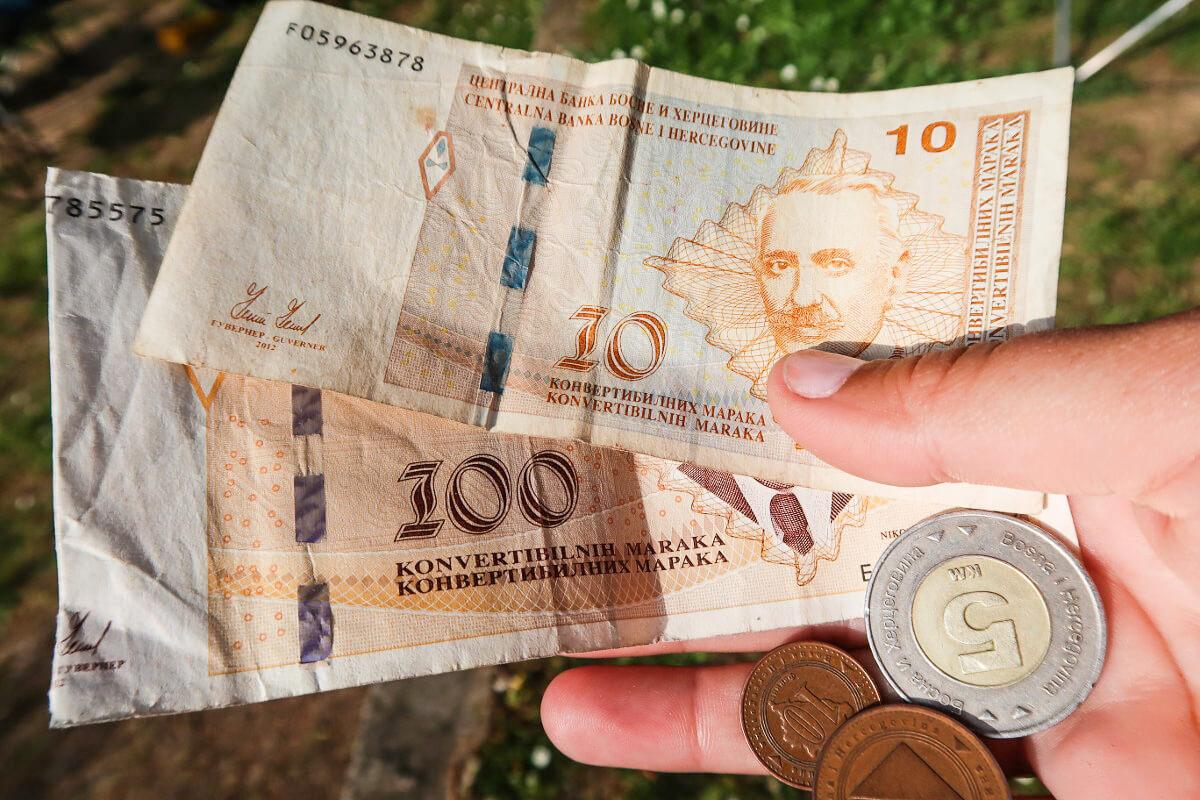 Noten und Münzen der KM - Reisen durch Bosnien