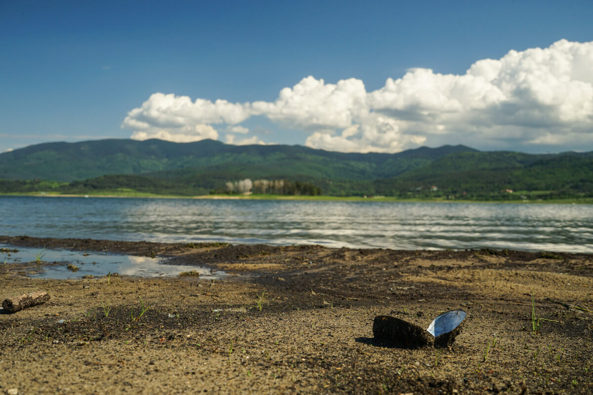 Muscheln am Batak-See - gesehen auf unserer Wanderung dem Ufer entlang.