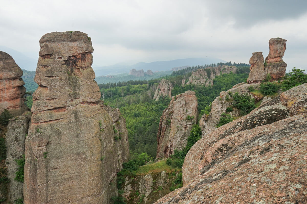 Blick von der Burg von Belogradtschik, Sehenswürdigkeiten Bulgarien