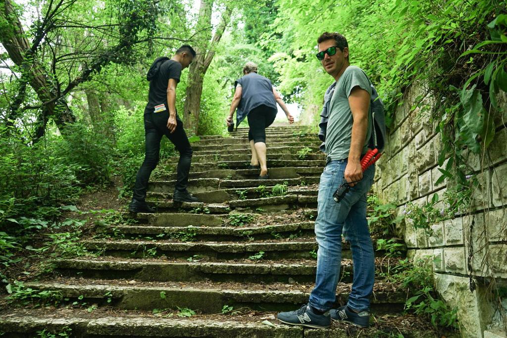 Treppen zum Galata Beach in Bulgarien
