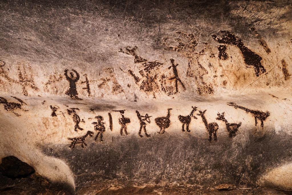 Malereien in der Höhle