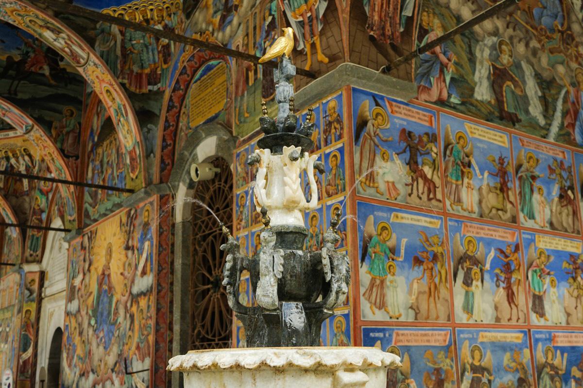 Fresken am Rila Kloster in Bulgarien