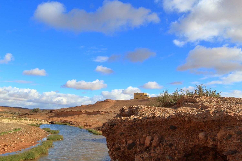 Camper in der Wüste