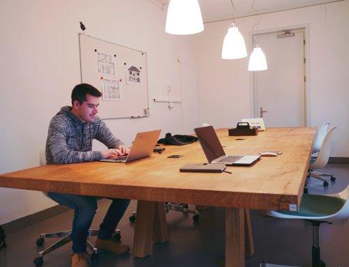 Unser Schreibtisch im Coworking Frauenfeld