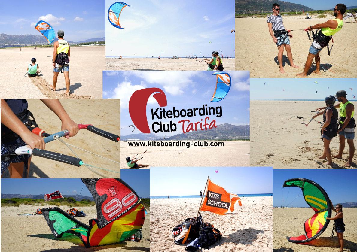 Kitesurfen in Tarifa - wir mit dem Kite