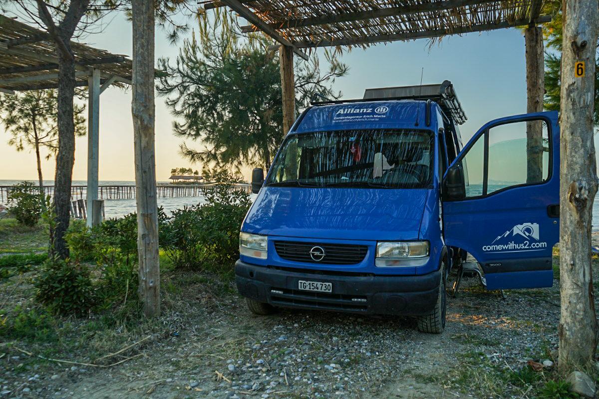 Camper, Strand Meer Albanien Reisen