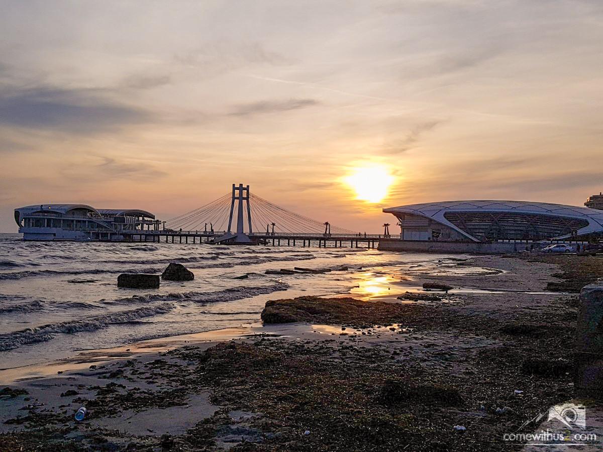 Durres, Strandpromenade, Sonnenuntergang, Harbor