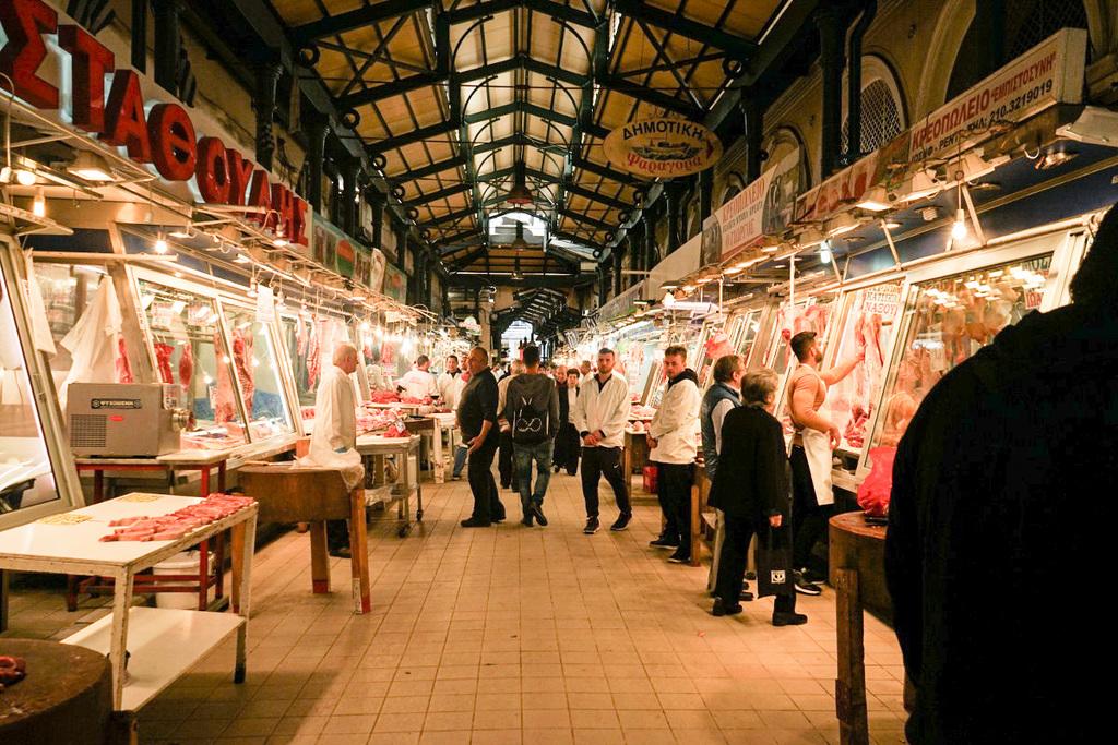 Markt, Metzgereien, Griechenland, Athen