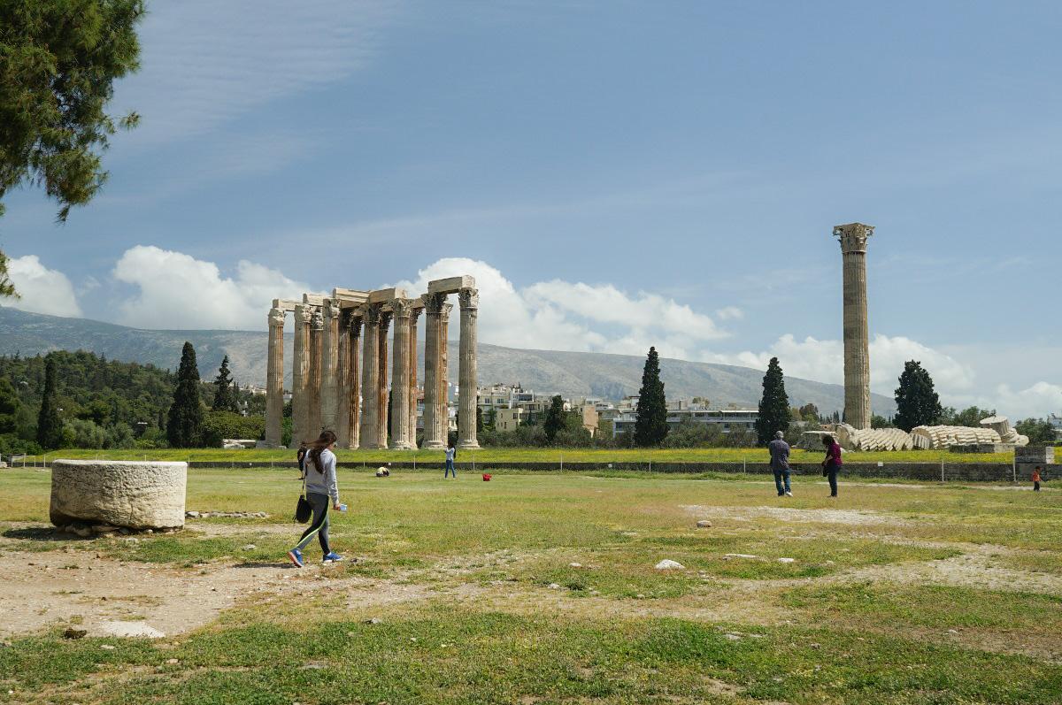 Tempel des olympischen Zeus, Athen Sehenswürdigkeiten