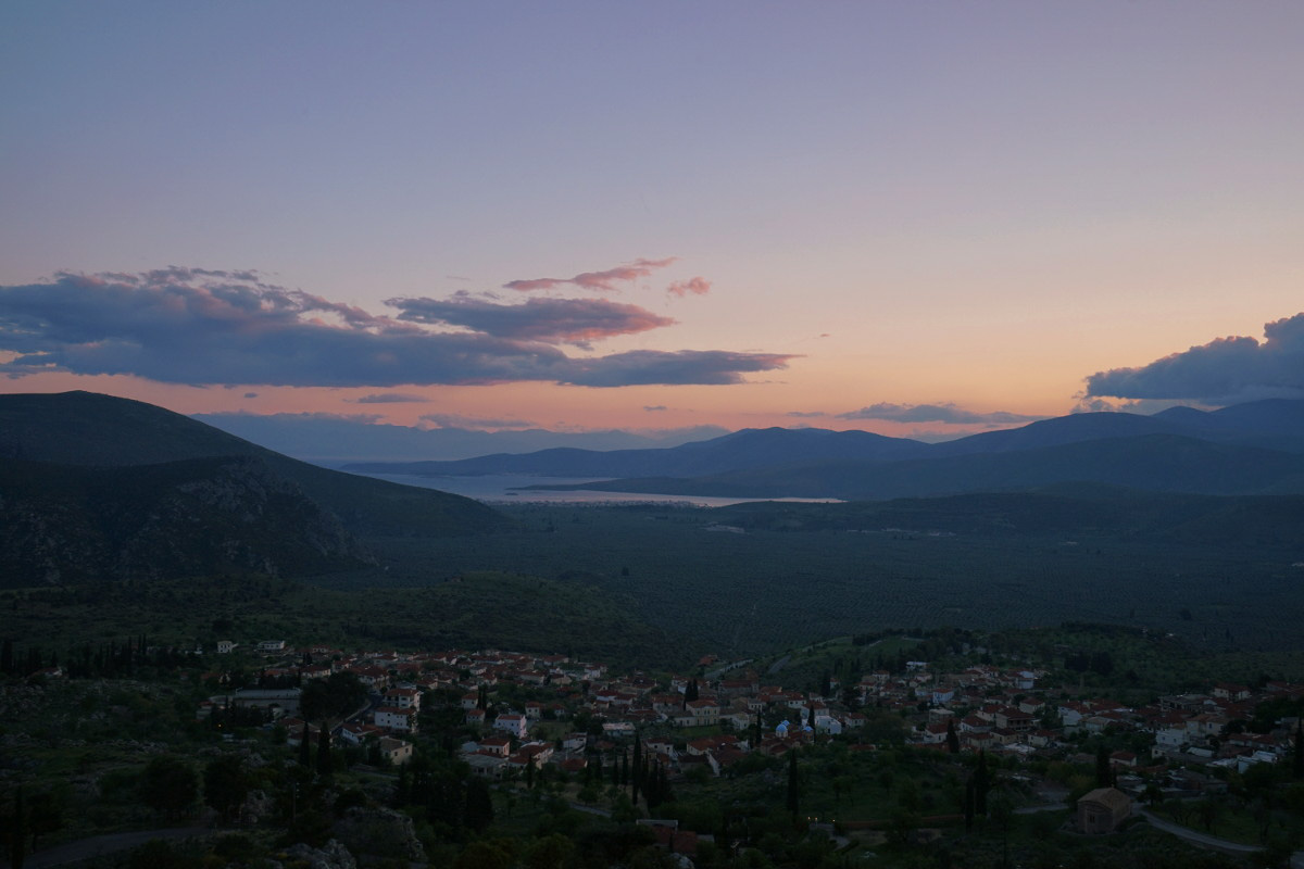 Sonnenuntergang mit Blick aufs Meer - Camping Delphi