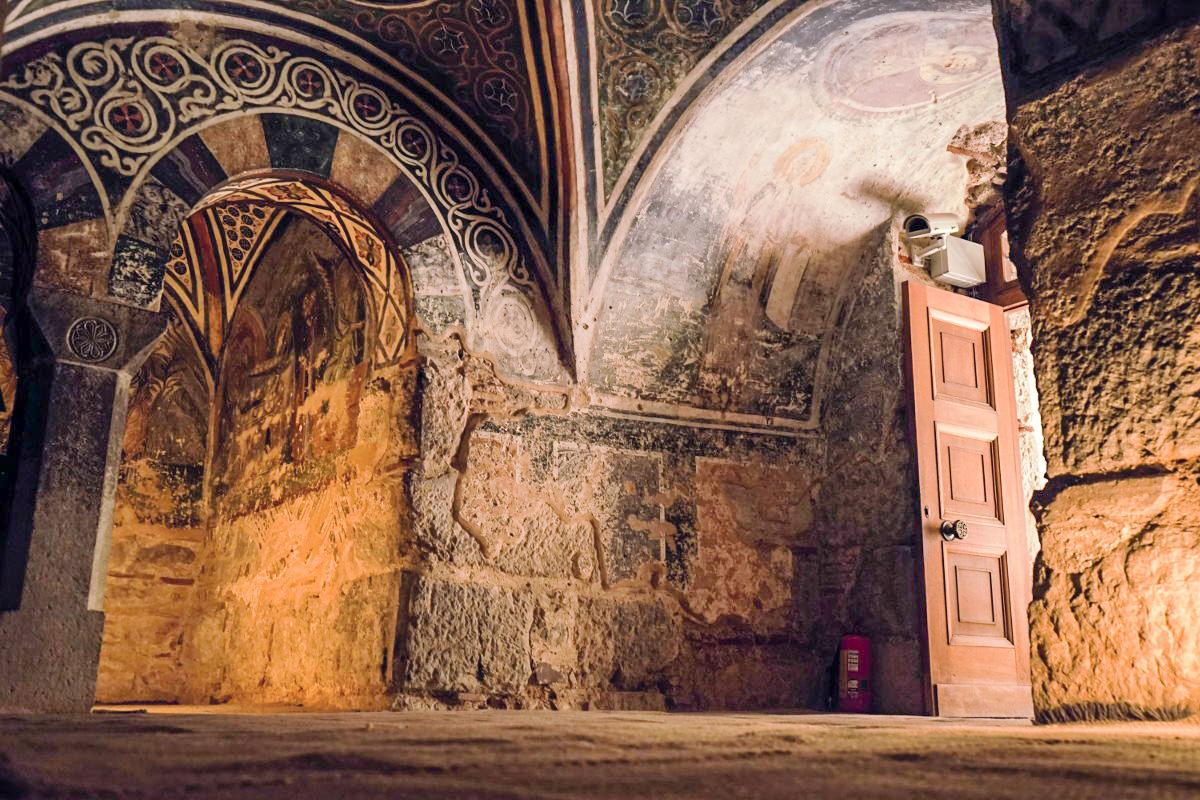 Fresken über die Bögen und Wände, Hosios Loukas, Panagia