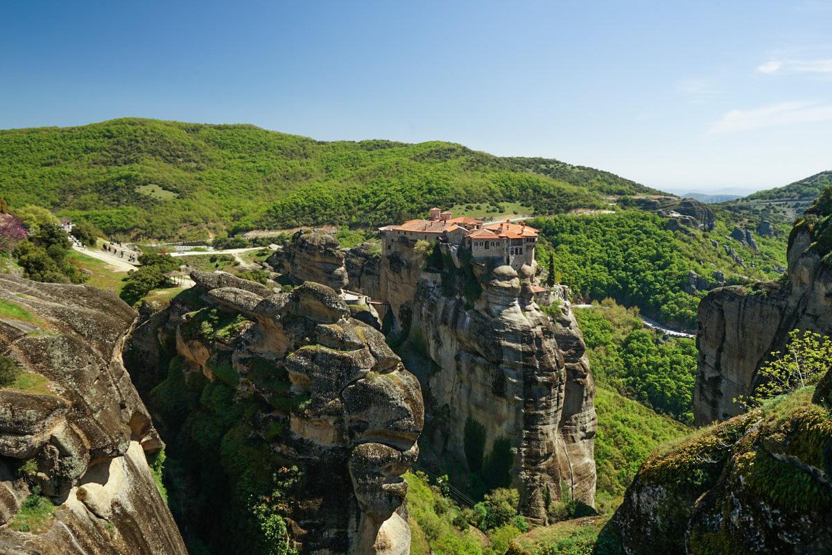 Kloster auf Felsen, Meteora Kloster, Varlaam