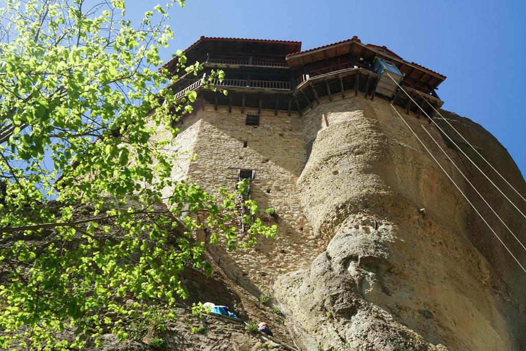 Meteora Kloster, Blick von unten nach oben.