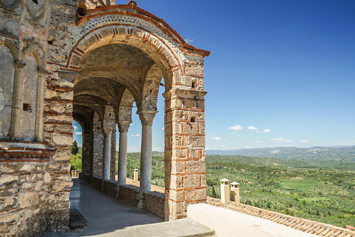 Steinerne Bögen, Weitsicht, Mystras besichtigen, Sehenswürdigkeiten Griechenland