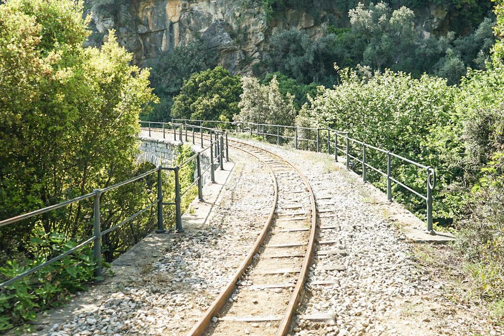 Brücke, Schienenwanderung, Pelion, Pilion, Griechenland