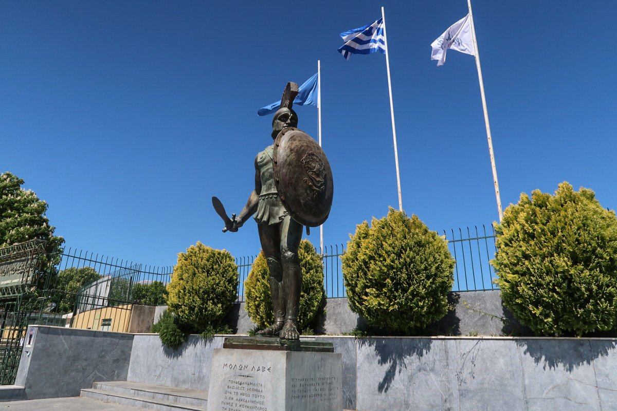 Krieger, Griechenlandfahne, Sparta