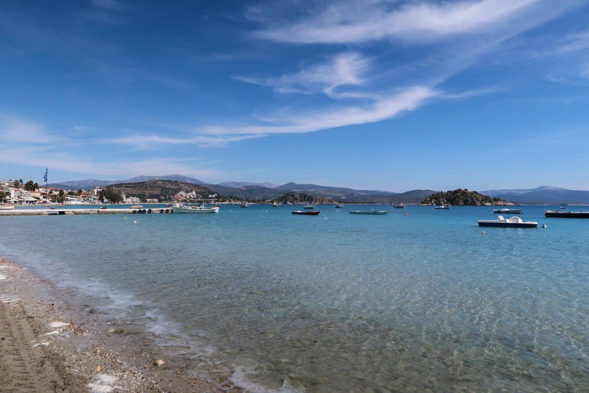 Strand, Bucht, Boote, blaues Meer, Griechenland Sehenswürdigkeiten