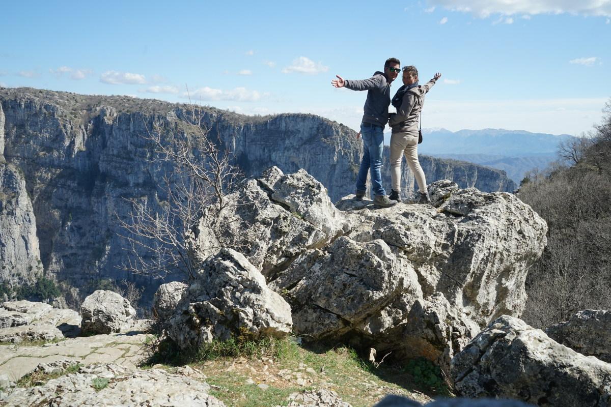 Vikos Schlucht, Lui und Steffi, Vikos Canyon, Griechenland