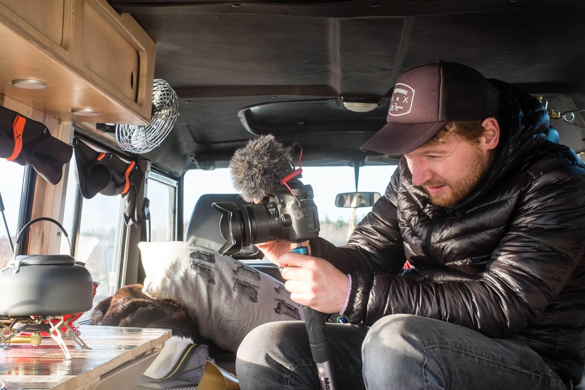 Phil mit Kamera