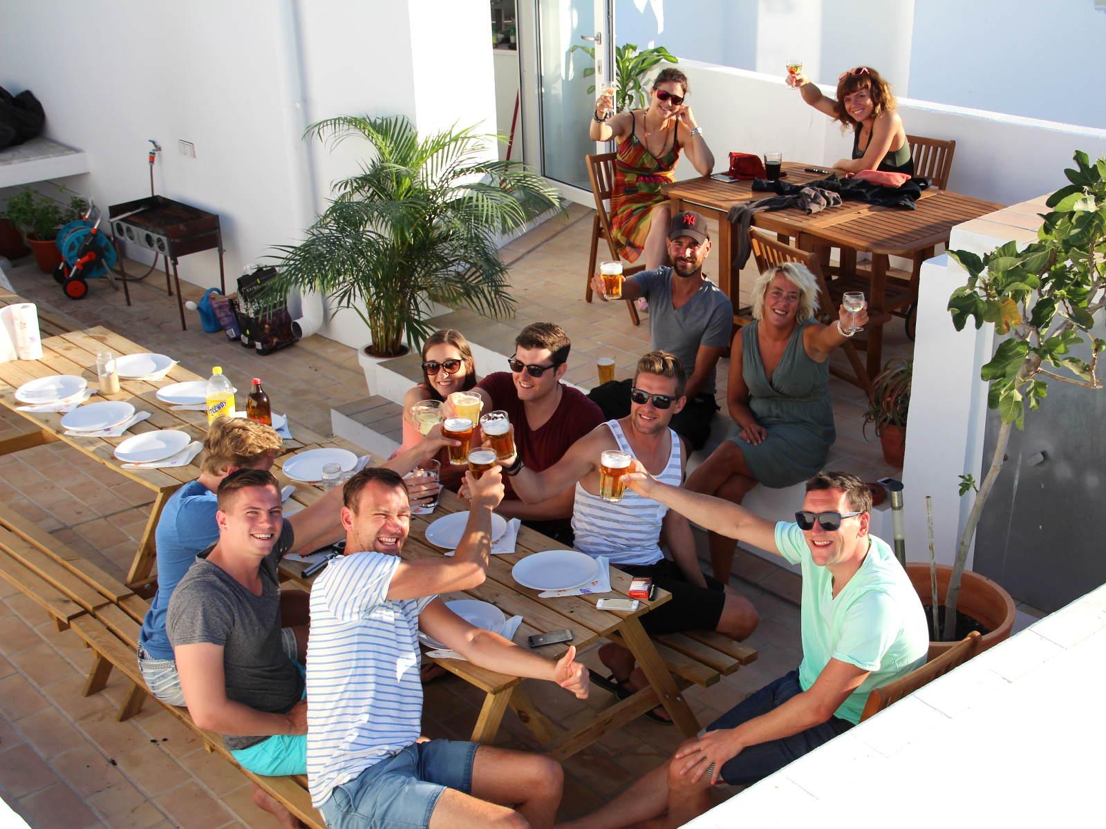 Terrasse der Surfers Resicence - Gemeinsam statt Einsam!