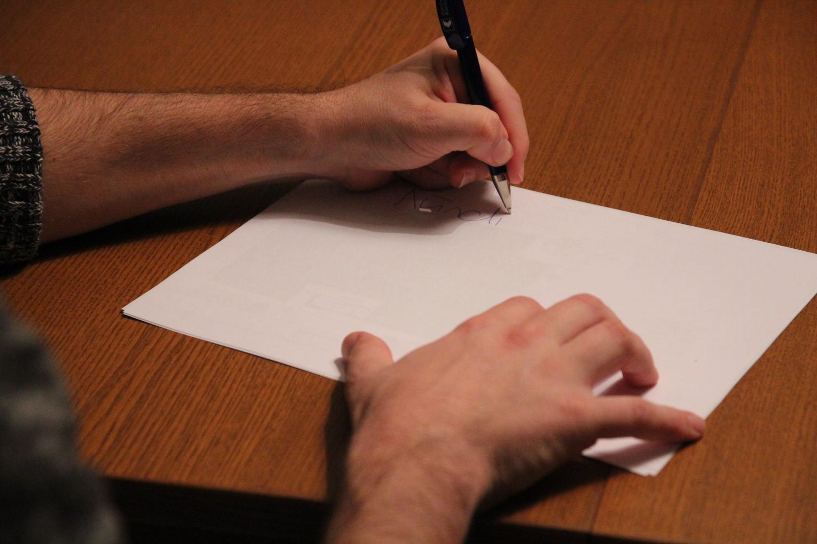 Lui schreiben