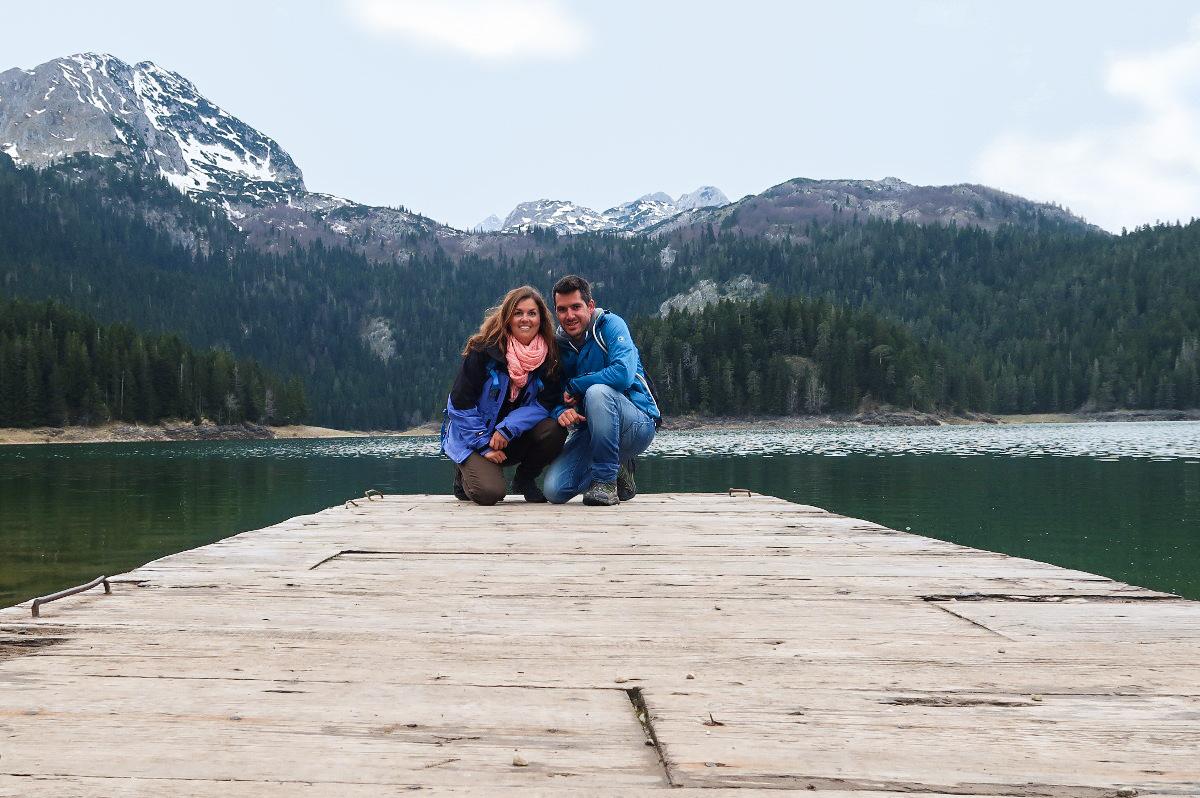 Lui und Steffi auf Steg auf See