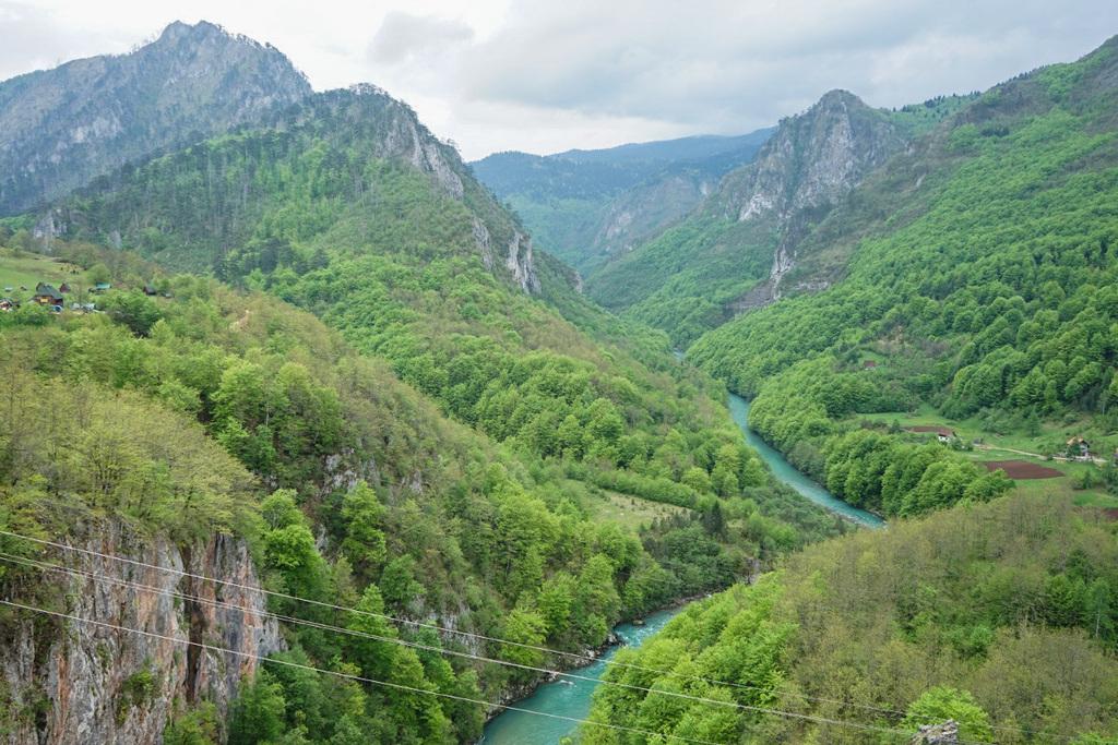 Tara fliesst tief im Tal durch den Gebirgszg - Montenegro Sehenswürdigkeiten