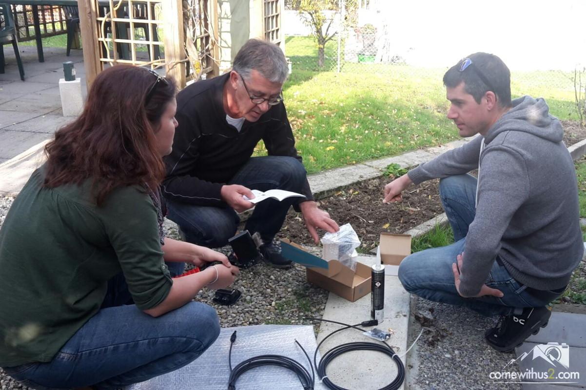 Planung zur Montage einer Solaranlage auf dem Camper