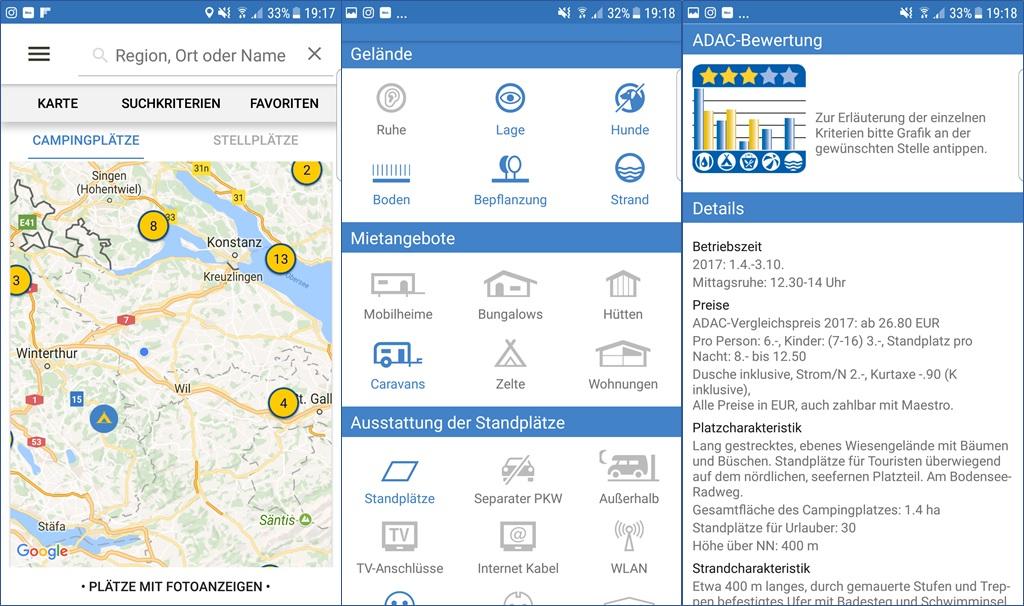 ADAC Campingführer App