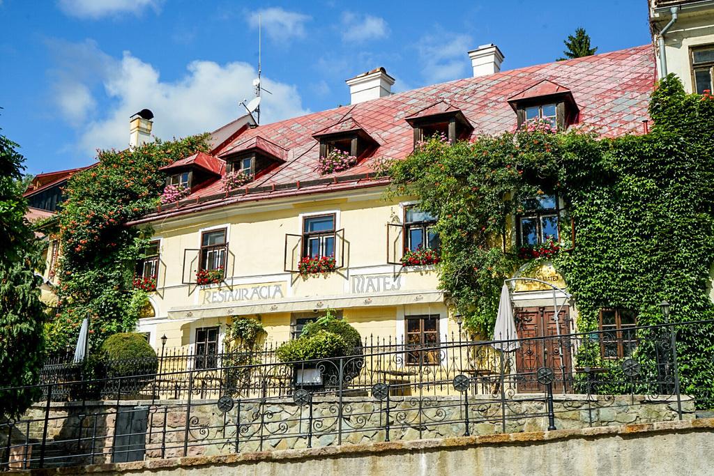 Restaurant in Banska Stivanica beim Stadtrundgang