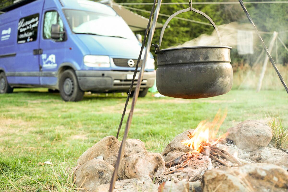 Gulasch Slowakei Lagerfeuer Camping Lazy