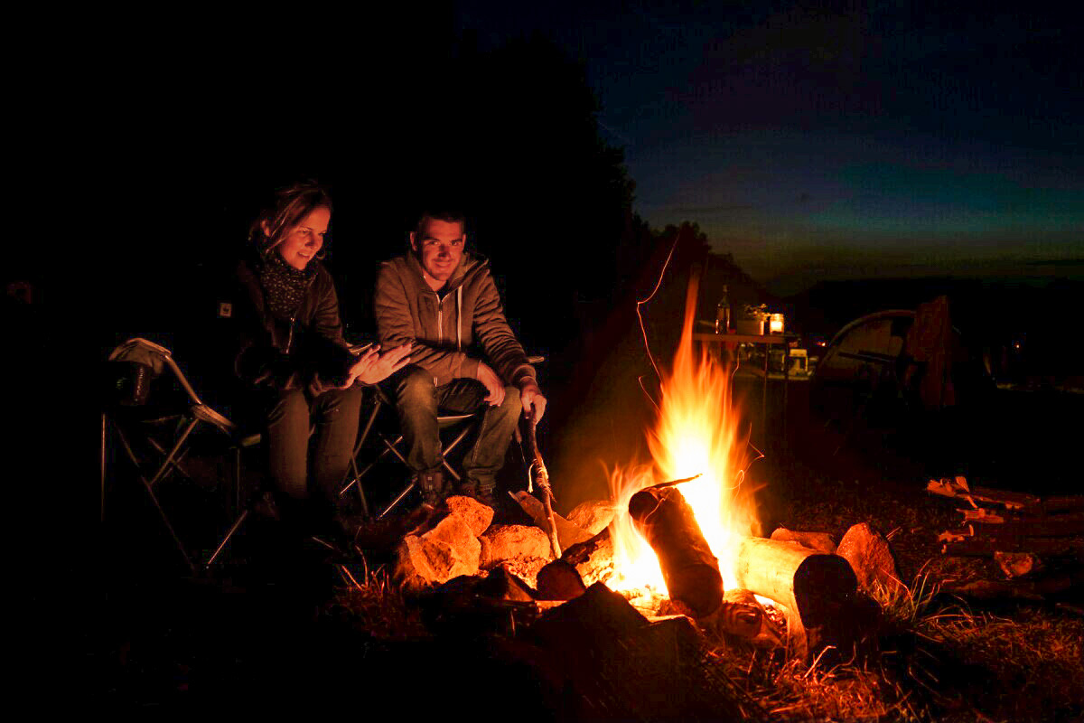Lagerfeuer Camping Lazy Slowakei