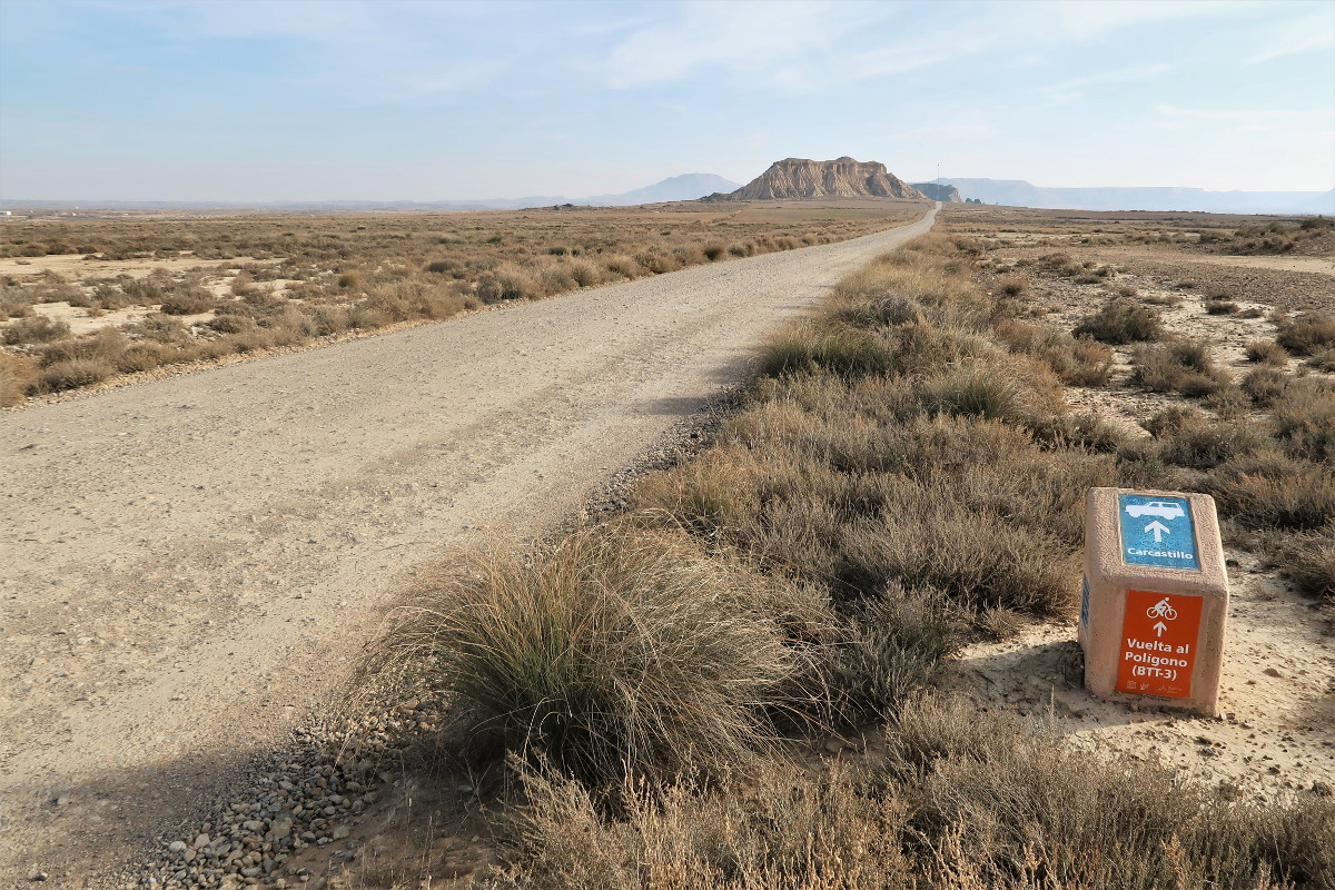 Bardenas Reales Strecken, Wanderung, Routen