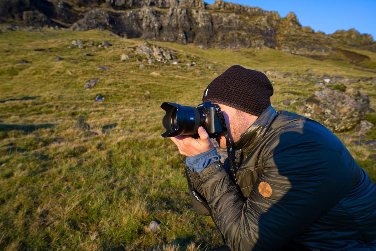 Stefan Tschumi fotografiert in der Natur - Sony Alpha 7 Mark II