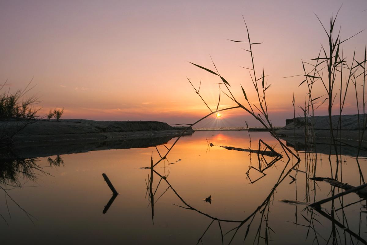 Sonnenuntergang auf der Halbinsel Gallipoli