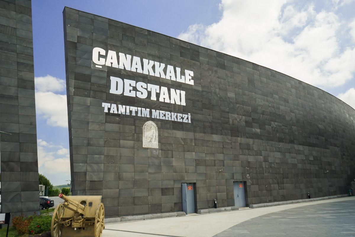 Kriegsmuseum: Eingang zum Canakkale Destani - Ausflugsziel Türkei