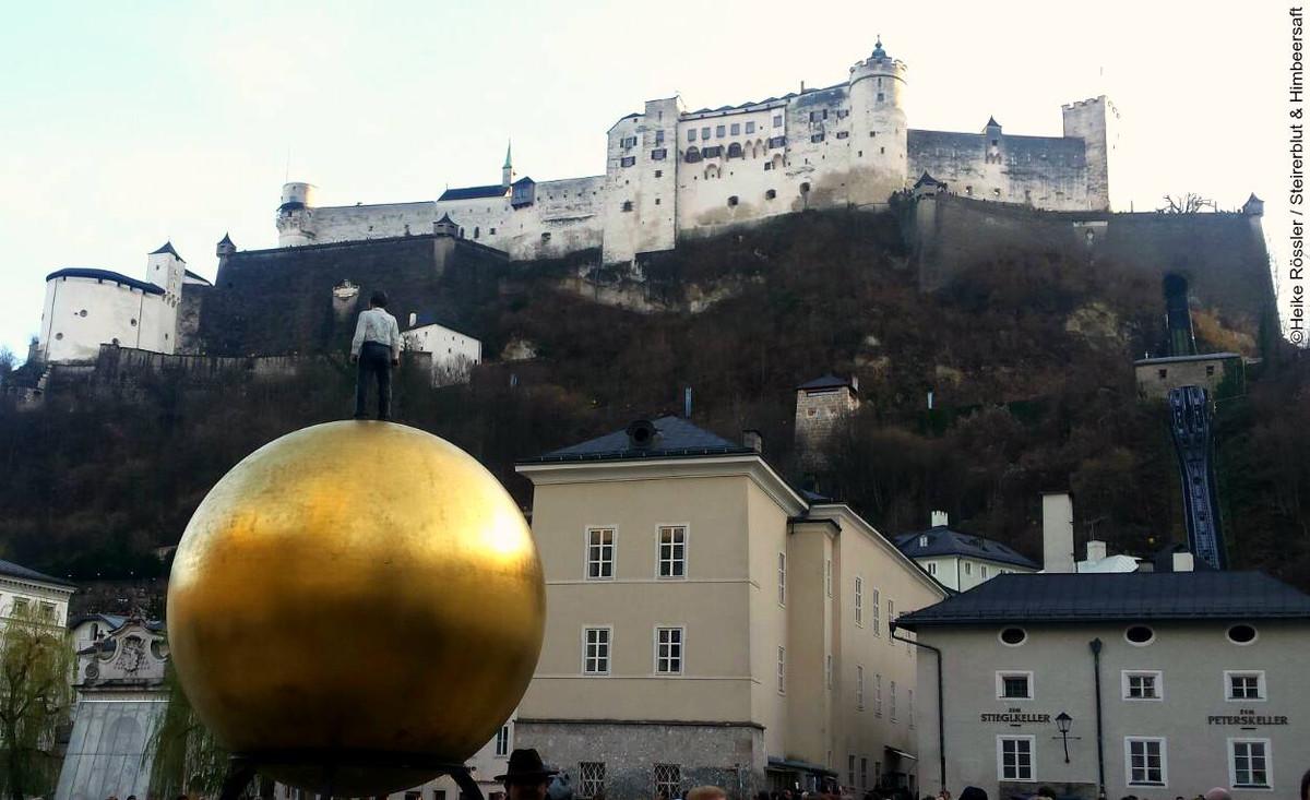 Festung auf dem Berg über Salzburg