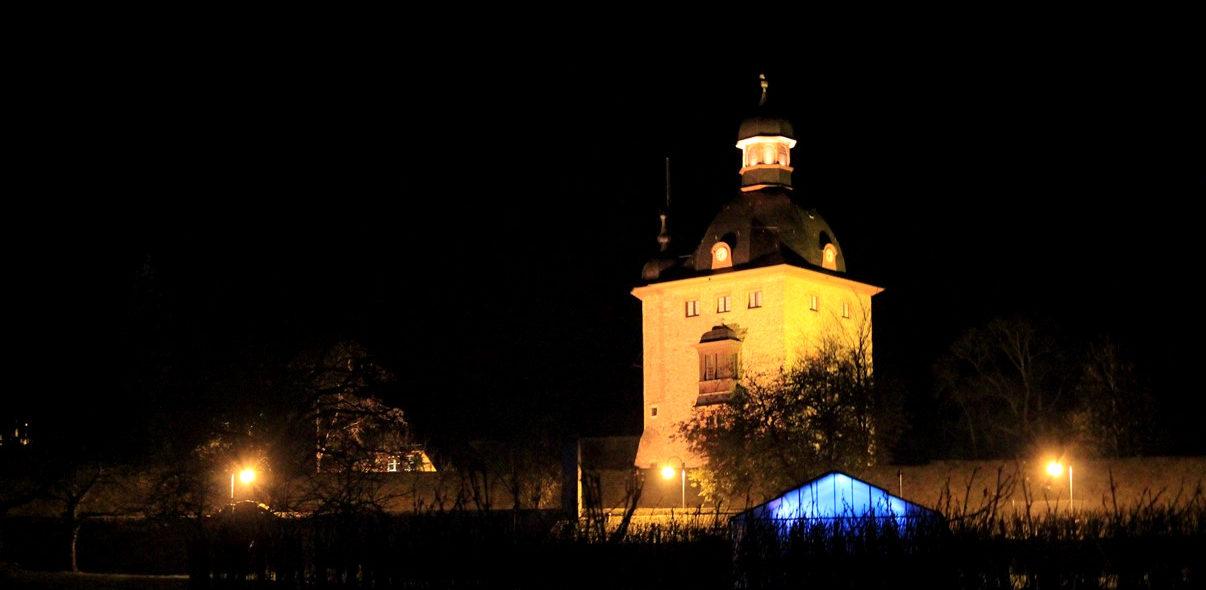 Schloss beleuchtet bei Nacht